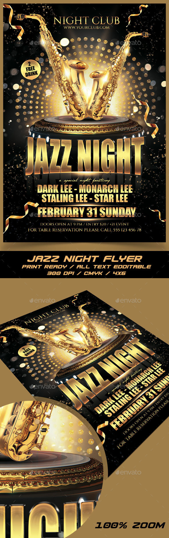 Jazz Night - Events Flyers