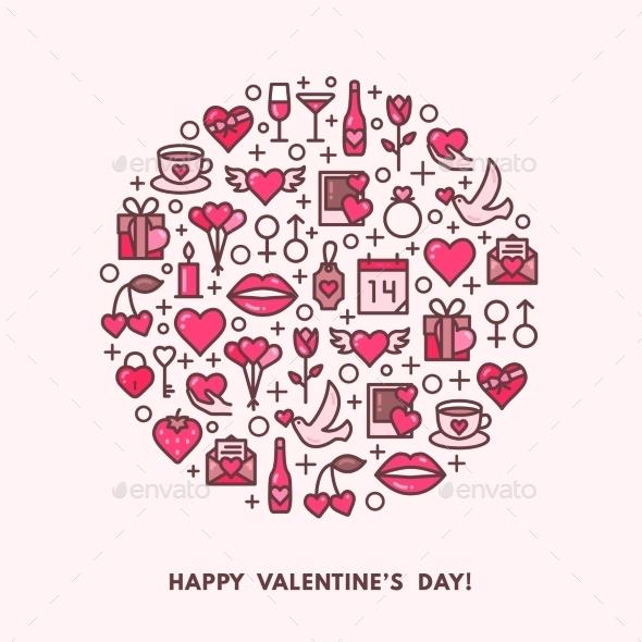 Valentines Day And Wedding Icons - Valentines Seasons/Holidays