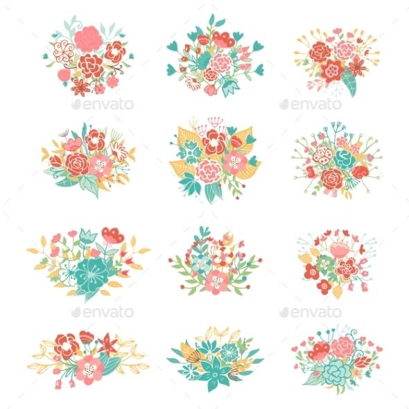 Wedding Vintage Elements Collection - Flowers & Plants Nature
