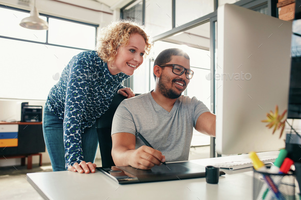 Creative people coworking on a new project - Stock Photo - Images