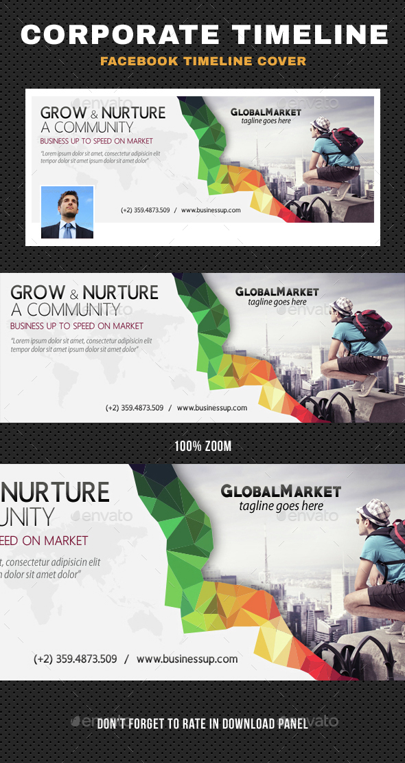 Corporate Business Facebook Timeline - Facebook Timeline Covers Social Media