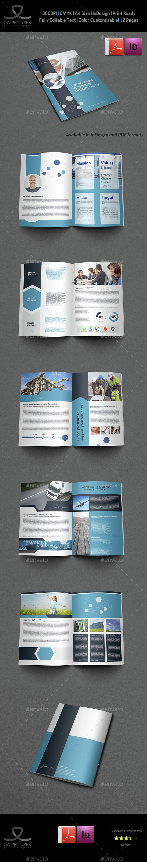 Corporate Brochure Template Vol.42 - 12 Pages - Corporate Brochures