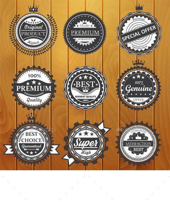 Premium Quality Badges  - Miscellaneous Web Elements