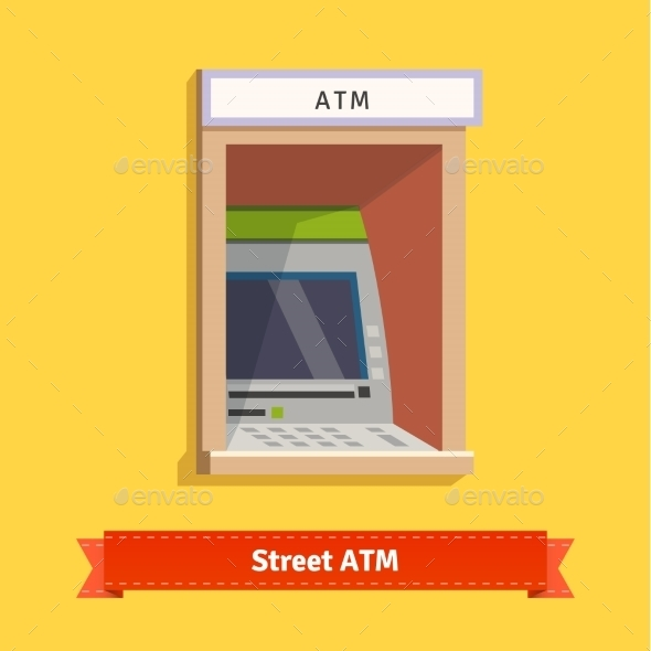 Wall Mounted Outdoor ATM Machine - Industries Business