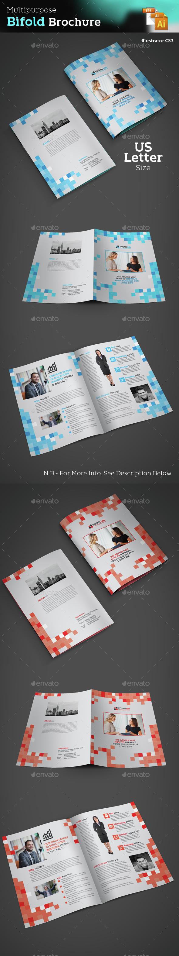 Bifold Business Brochure - Brochures Print Templates