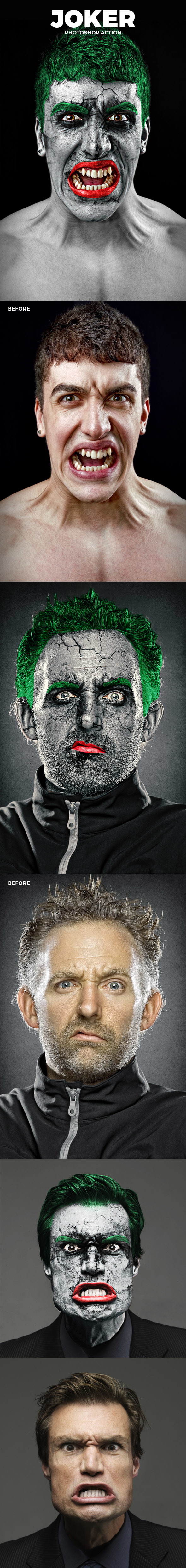The Joker Photoshop Action - Photo Effects Actions