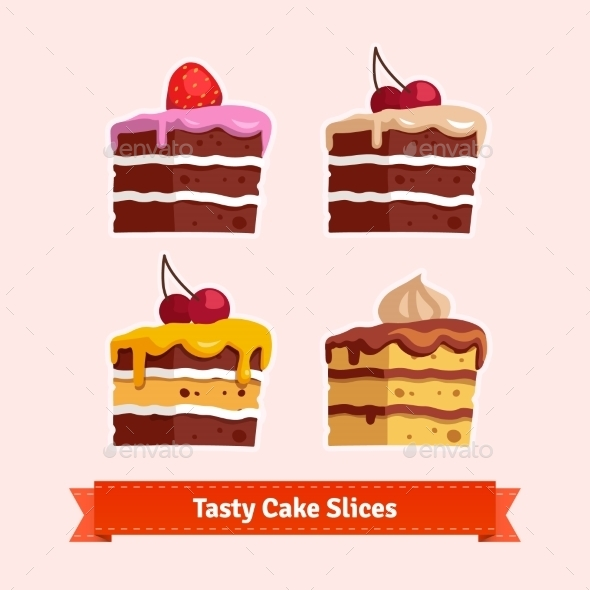 Tasty Cake Slices - Food Objects