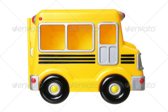 Toy School Bus - Stock Photo - Images