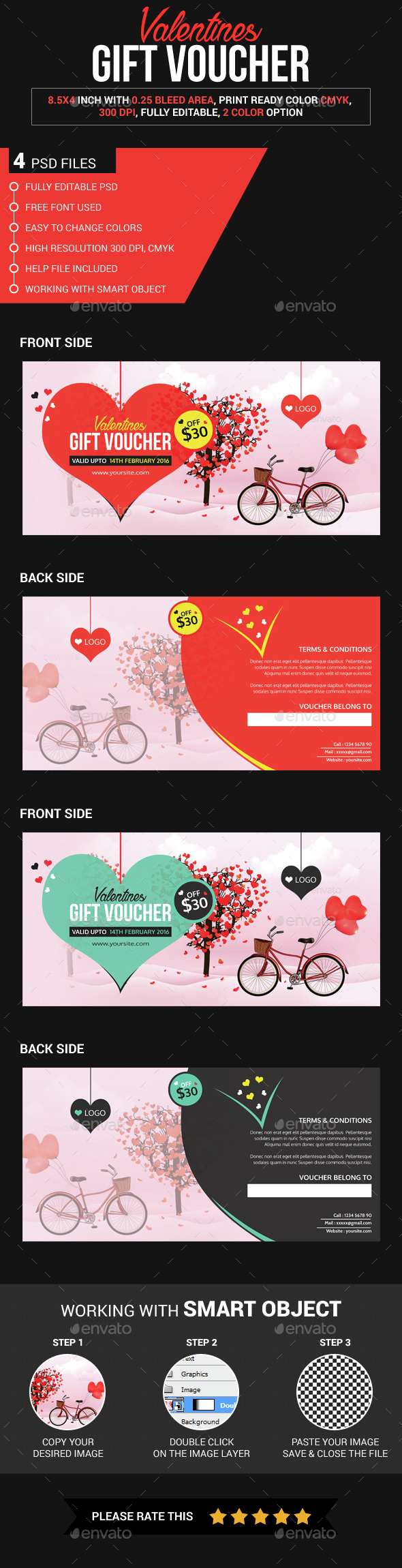 Valentine Gift Voucher - Loyalty Cards Cards & Invites