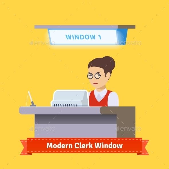 Modern Technology Teller Window - Industries Business