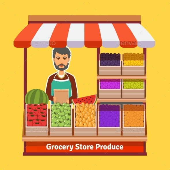 Produce Shop Keeper Fruit and Vegetables Retail - Retail Commercial / Shopping