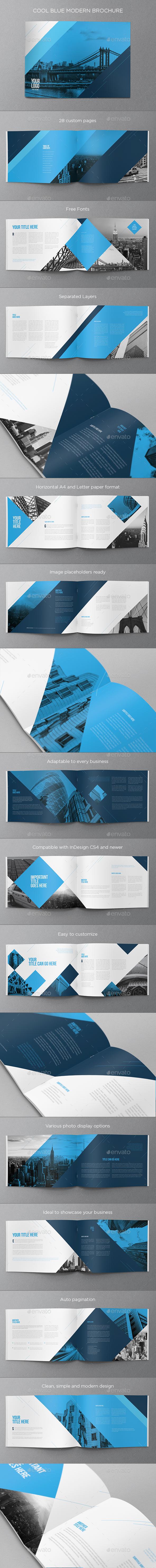 Cool Blue Modern Brochure - Brochures Print Templates