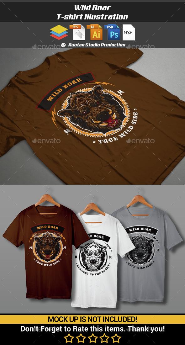 Wild Boar  - Sports & Teams T-Shirts