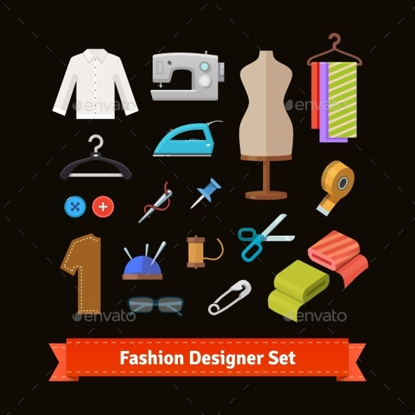 Fashion Designer Tools and Materials - Man-made Objects Objects