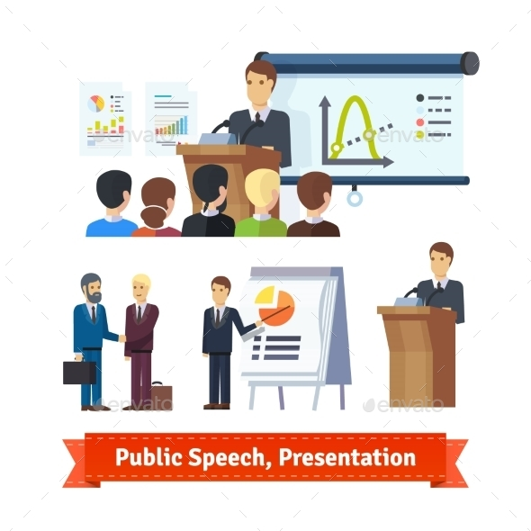 Businessman Doing Presentation - Concepts Business