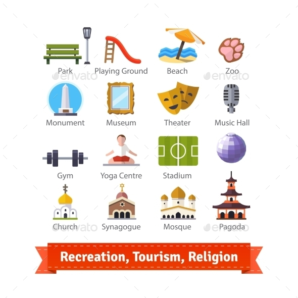 Recreation Tourism Sport and Religion Buildings - Industries Business