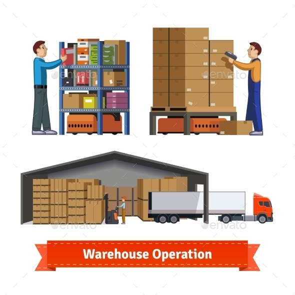 Warehouse Operations, Workers and Robots - Industries Business