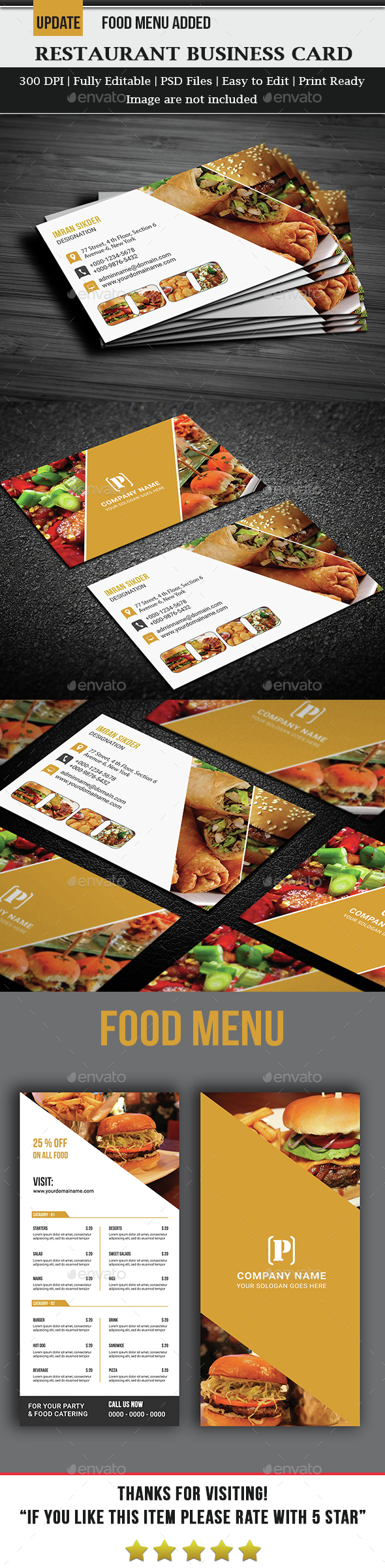 Restaurant Business Card - Business Cards Print Templates