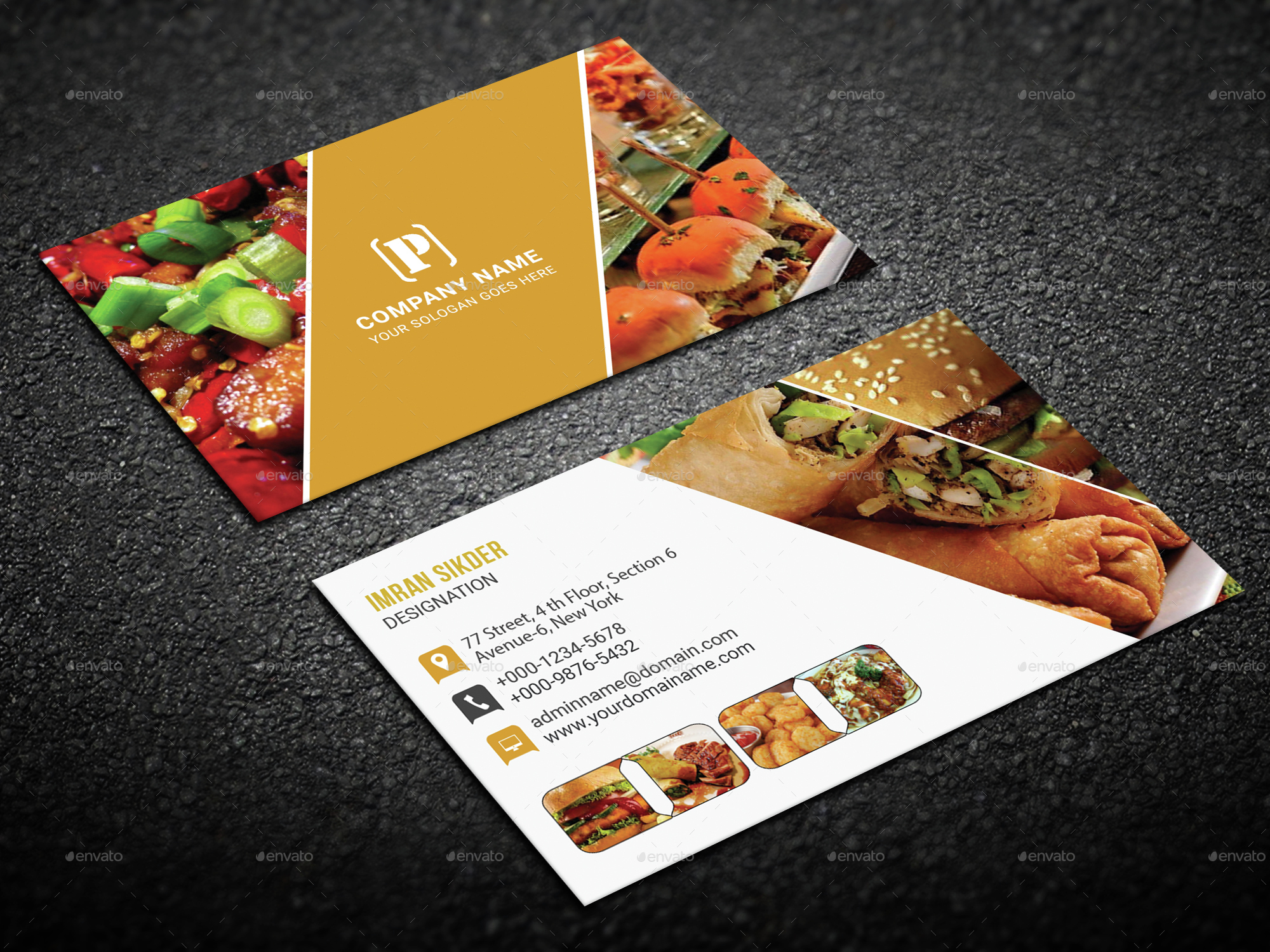 Restaurant Business Card by deviserpark | GraphicRiver