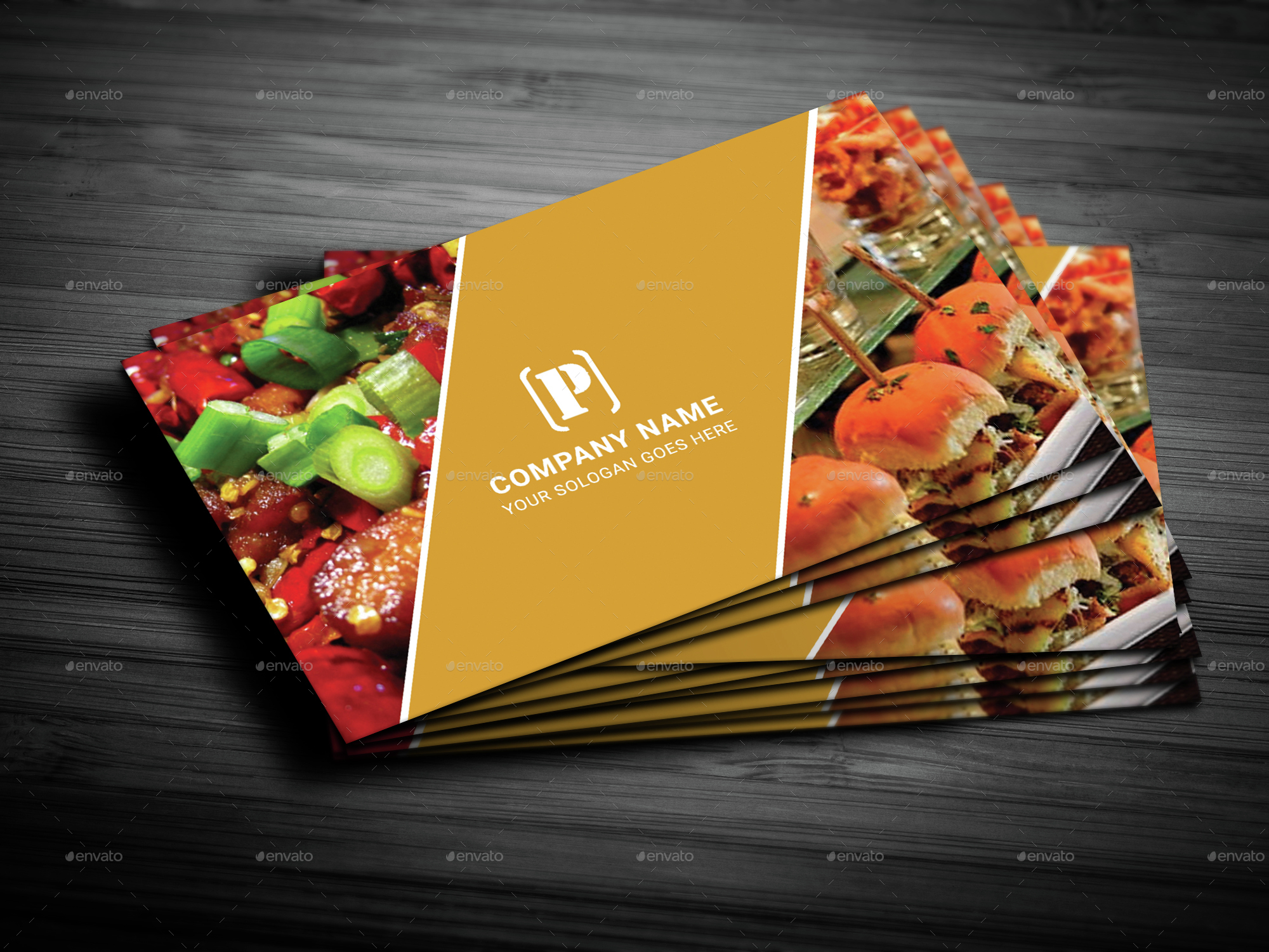 restaurant business card by deviserpark graphicriver