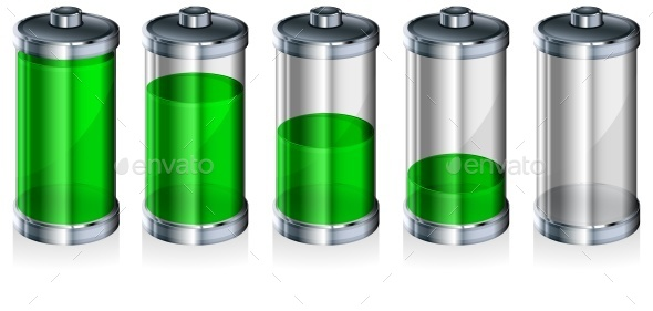 Battery with Level Indicator - Miscellaneous Vectors