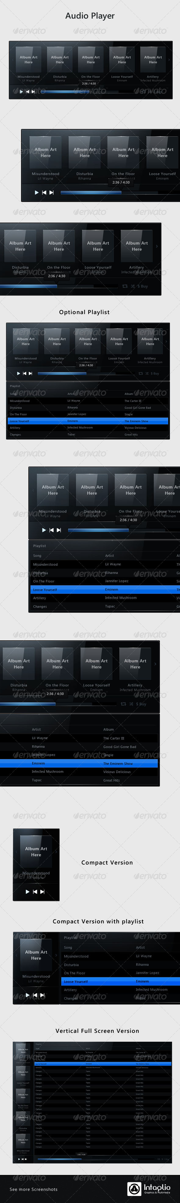 Web Music Player - User Interfaces Web Elements