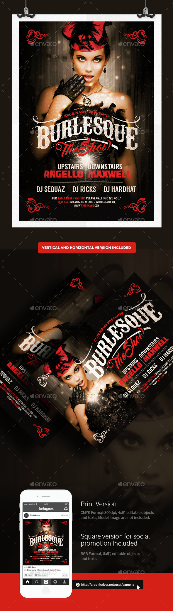 Burlesque Flyer Template - Events Flyers