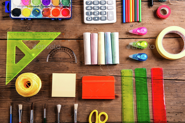Back to school composition - Stock Photo - Images