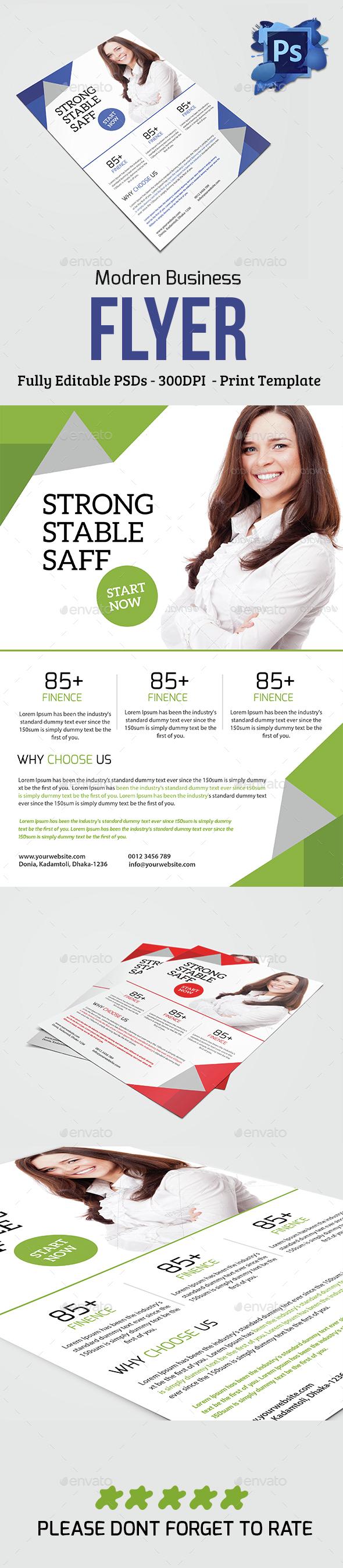 Modern Corporate Business Flyer - Flyers Print Templates