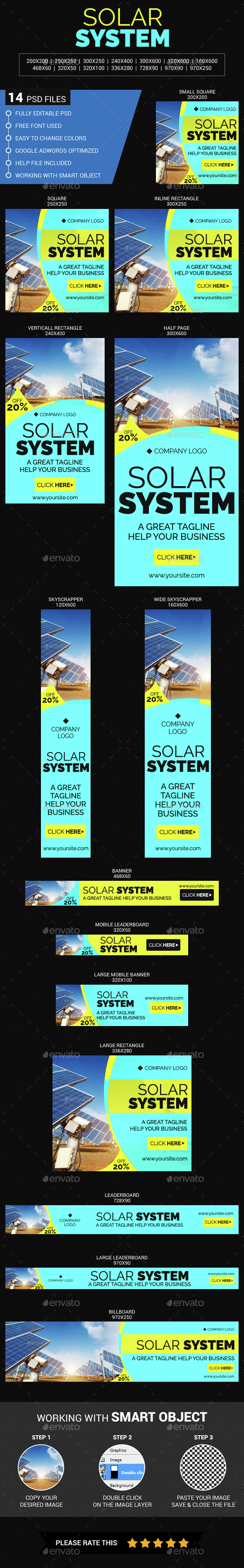 Solar System - Banners & Ads Web Elements