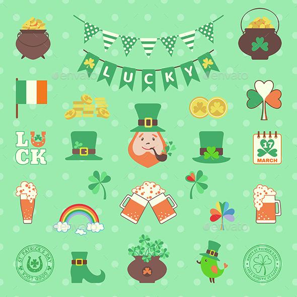 Saint Patrick's Day Icon Set - Miscellaneous Seasons/Holidays