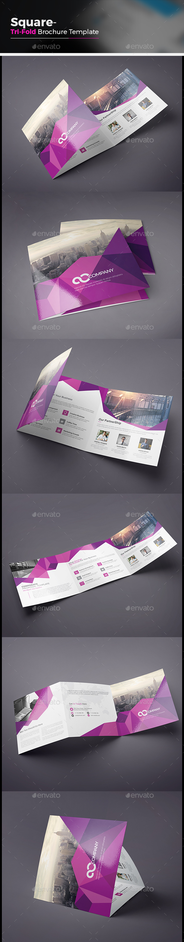 Abstract Square Tri fold Brochure - Corporate Brochures