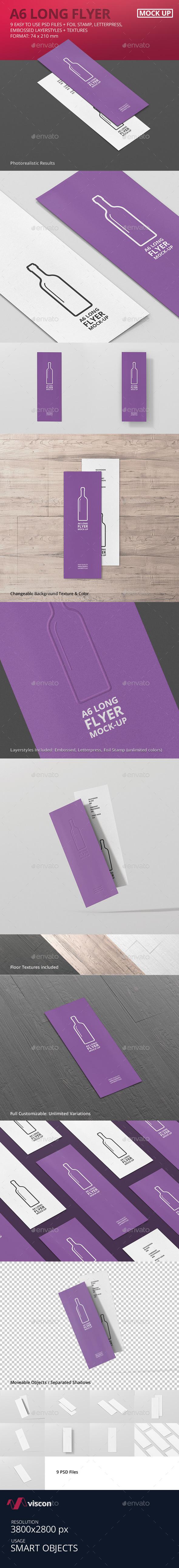 A6 Long Flyer Mock-Up - Flyers Print