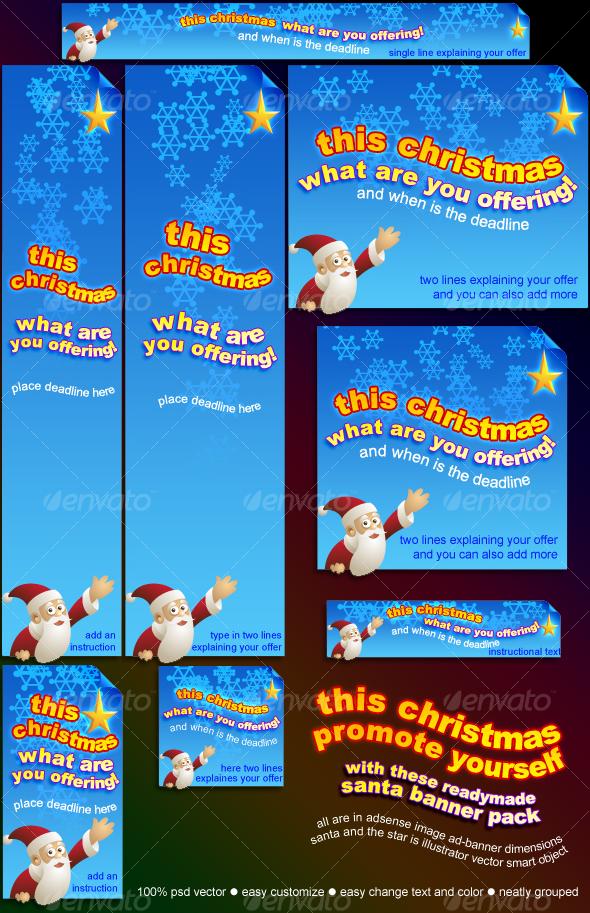 santa banner pack - Miscellaneous Web Elements