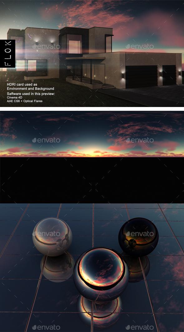 Sunset Desert 45 - 3DOcean Item for Sale