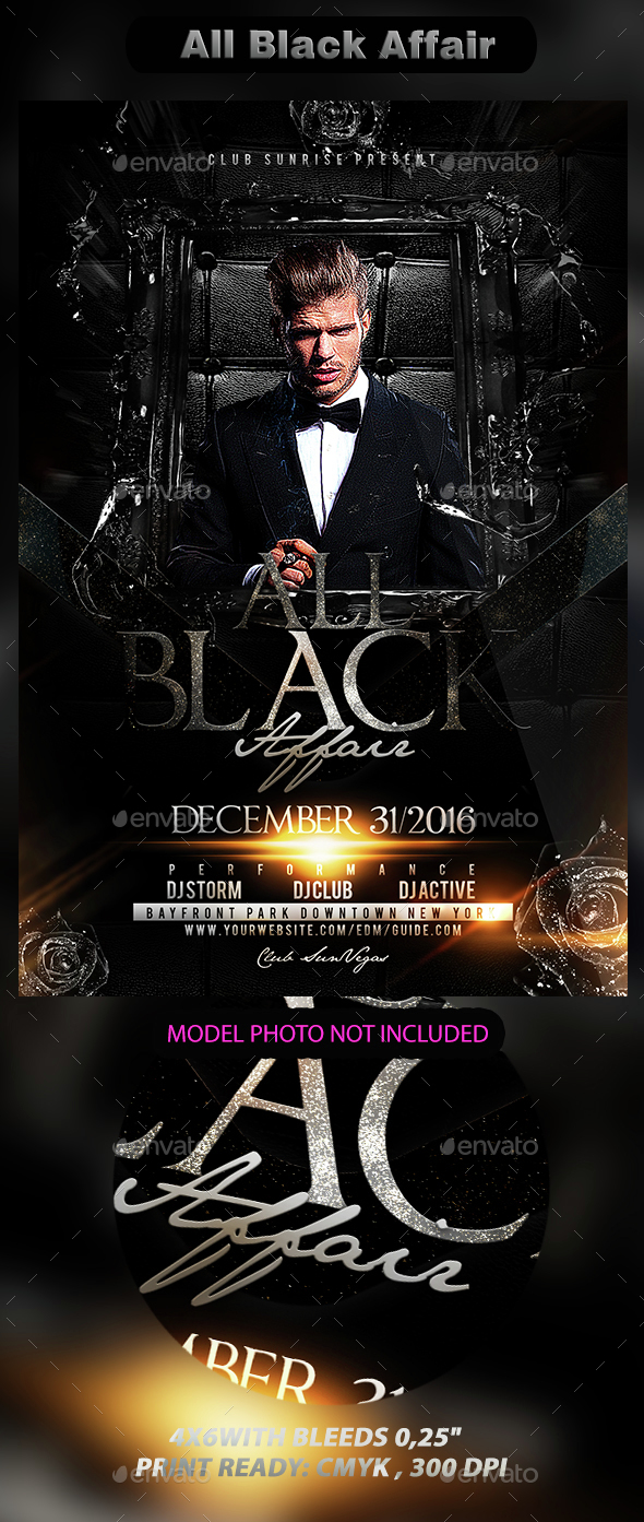 All Black Affair - Events Flyers