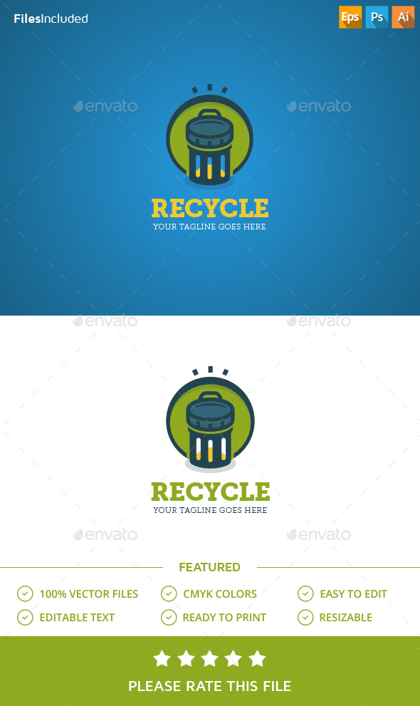 Trash Recycle Logo - Objects Logo Templates