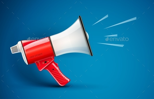 Megaphone Loud-speaker for Voice Amplification - Man-made Objects Objects