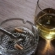 Cigarette And Glass Of Whiskey On The Table - VideoHive Item for Sale