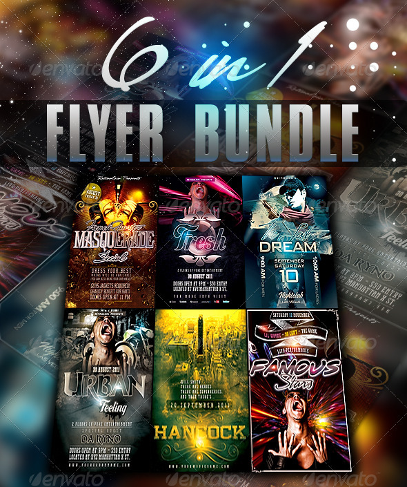 6in1 Flyer Bundle  - Clubs & Parties Events