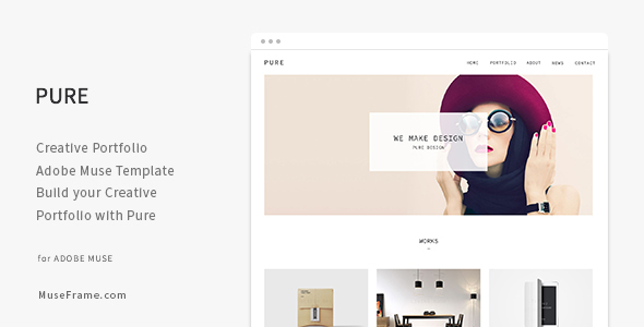Pure – Creative Portfolio Muse Template