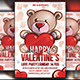 Teddy Bear Valentine's Party - GraphicRiver Item for Sale