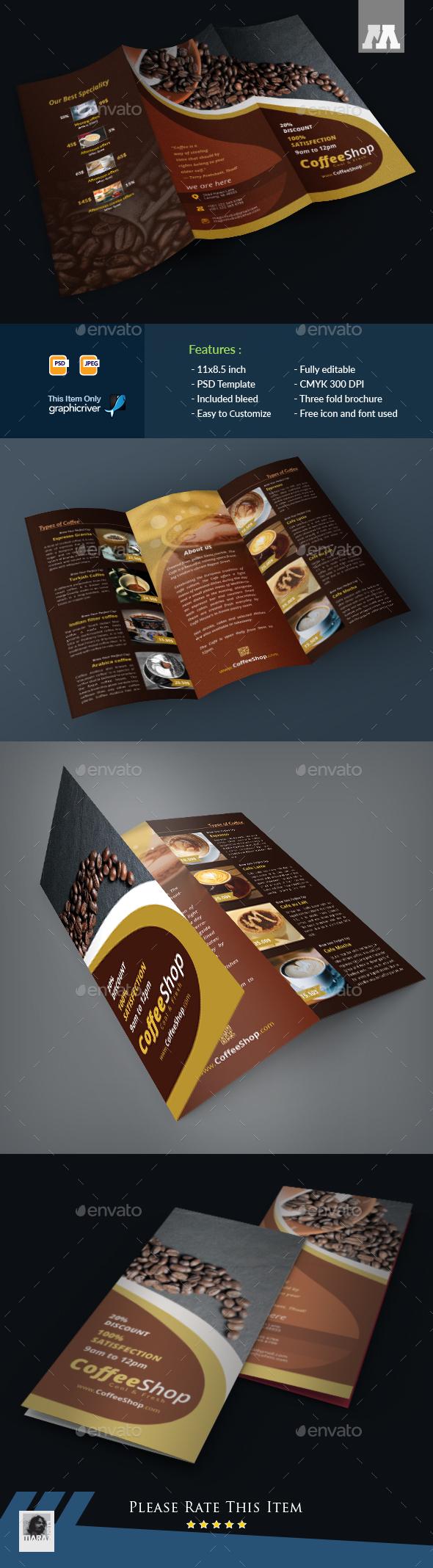 Coffee Tri-fold Brochure - Brochures Print Templates