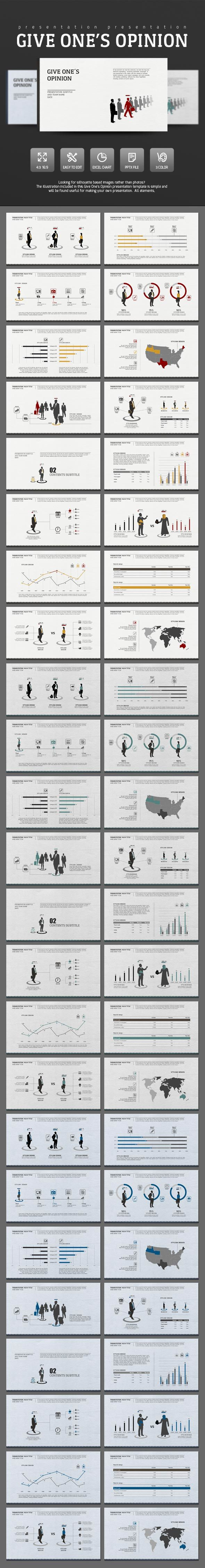 Give Opinion - PowerPoint Templates Presentation Templates