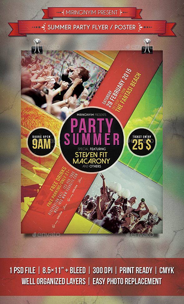 Summer Party Flyer / Poster - Events Flyers