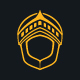 Medieval Golden Knight Logo Template - GraphicRiver Item for Sale