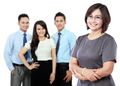 happy mature business women