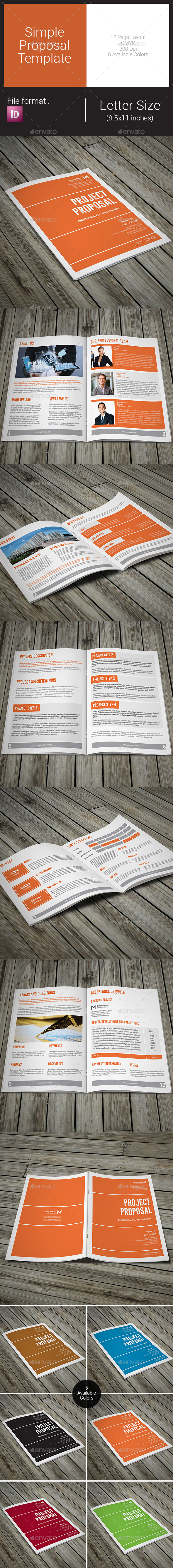 Simple Proposal Template - Proposals & Invoices Stationery