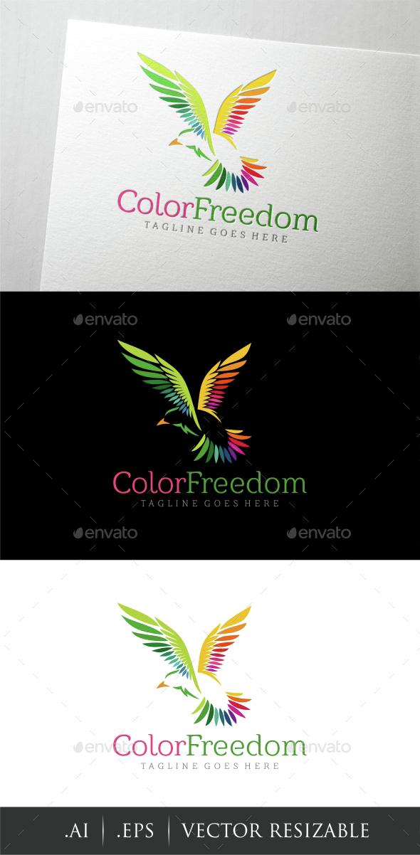 Color Freedom Logo - Animals Logo Templates