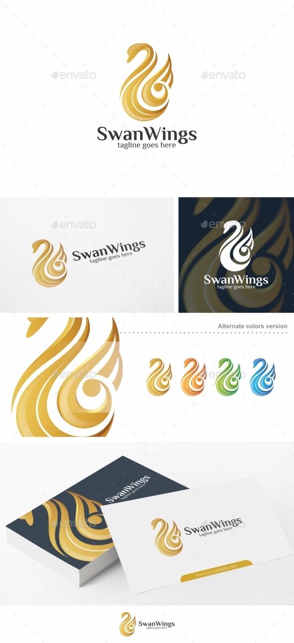 Swan Wings - Logo Template - Animals Logo Templates